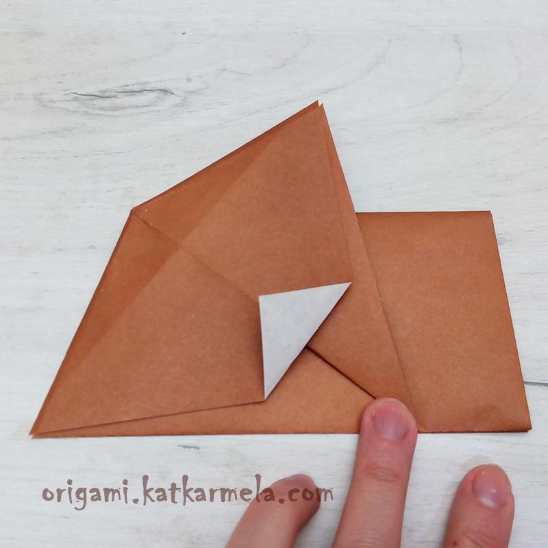как сложить из бумаги щенка