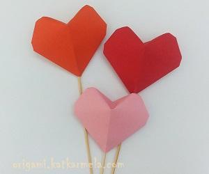 Как сделать оригами сердце из бумаги объемное для начинающих