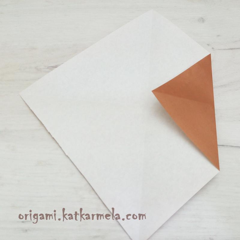 щенок из бумаги