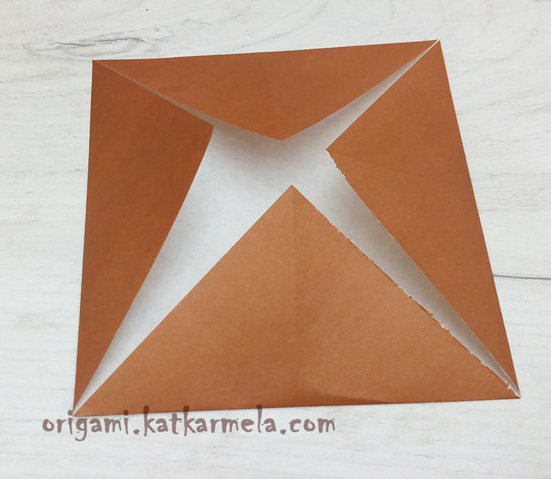 оригами щенок из бумаги