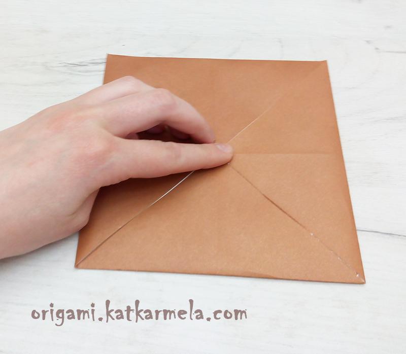 как сделать щенка из бумаги