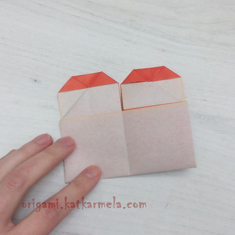 оригами сердце с крыльями